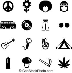 Hippie Icons - This image is a illustration and can be...