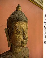 close up buddha statue.
