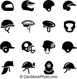 Helmet Icons - This image is a illustration and can be...