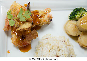 Thai food set for a party