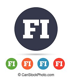 Finnish language sign icon. FI translation. - Finnish...