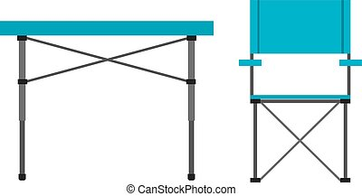 Camping table and chair - Camping Tourist table and chair...