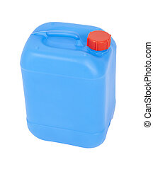 blue canister - An image of a nice blue canister