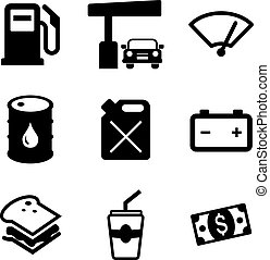 Gas Pump Icons - This image is a illustration and can be...
