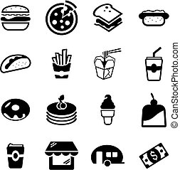 Fast Food Restaurant Icons - This image is a illustration...