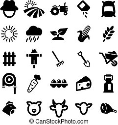 Farm Icons - This image is a illustration and can be scaled...
