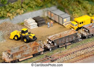 model railroad construction - miniature model railroad...