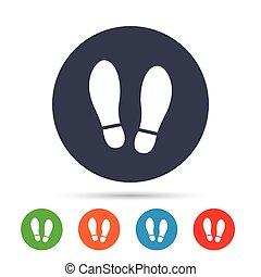 Imprint shoes sign icon. Shoe print symbol. - Imprint soles...
