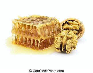 Honey and walnuts