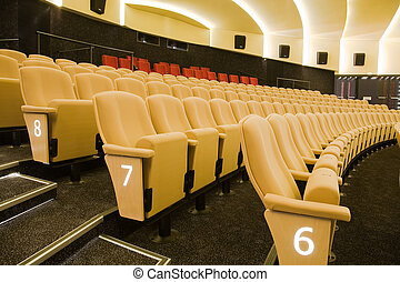 Cinema interior - Rows 6,7 and 8 in interior of cinema...