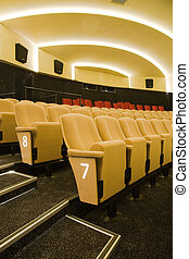 Cinema interior - Row 7 in interior of cinema auditorium