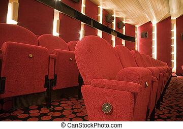 Cinema interior - Row 7 in cinema auditorium