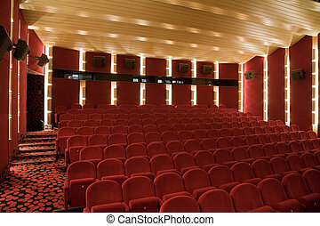 Cinema interior - Interior of cinema auditorium with lines...