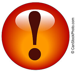 red exclamation mark button or icon - red exclamation mark...
