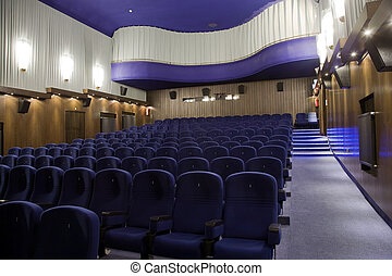Cinema interior - Interior of cinema auditorium with balcony...