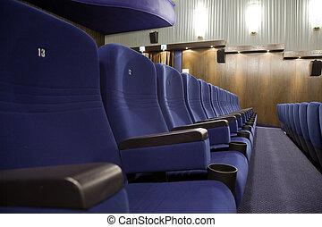 Cinema interior - Seat 13 in line of of cinema auditorium...