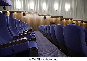 Cinema interior - Row 7 in interior of cinema auditorium