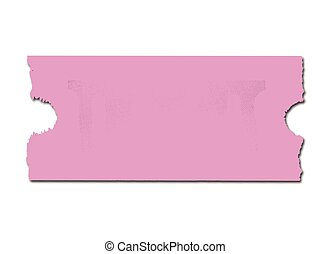 Blank Pink Ticket - A blank pink cinema style ticket over a...