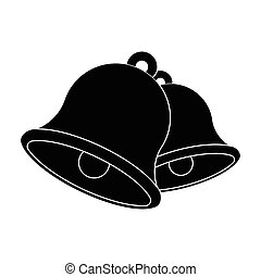 Church bells. Easter single icon in black style vector symbol stock illustration.