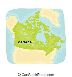 Map of Canada. Canada single icon in cartoon style vector symbol stock illustration web.