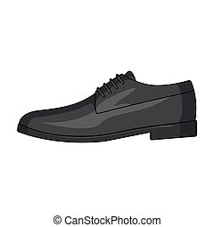 Mens leather shiny shoes with laces. Shoes to wear with a suit.Different shoes single icon in cartoon style vector symbol stock illustration.