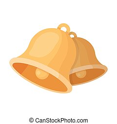 Church bells. Easter single icon in cartoon style vector symbol stock illustration.