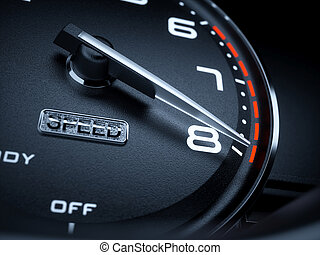 Tachometer - Car illuminated dashboard speedometer...