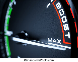 speedometer tachometer with max boost power