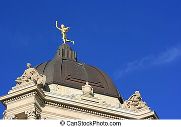 Dome on top of Manitoba\'s legislature building, Winnipeg,...