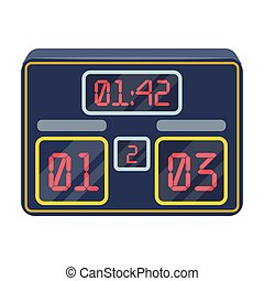 Board with a score of football.Fans single icon in cartoon style vector symbol stock illustration.