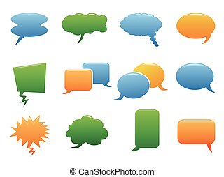 color speech bubble icons