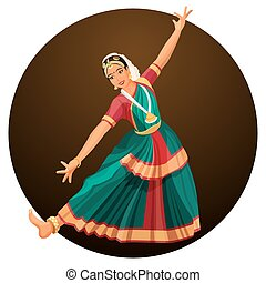 Solo dance performed by girl with hindi accessories....