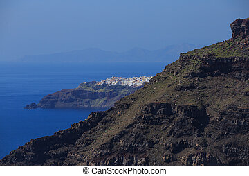 Santorini island, Greece - caldera view - View of Santorini...