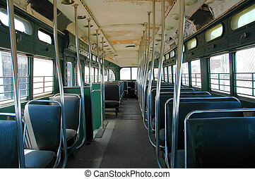 Old Bus - Inside an old bus in north carolina