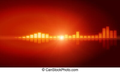 Graphic equalizer in orange  - Graphic equalizer in orange