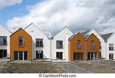 Housing in Europe - Modern singly-family terraced homes in...