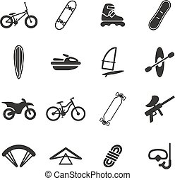 Extreme Sports Icons - This image is a illustration and can...