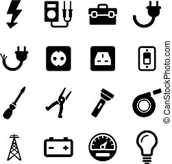 Electrician Icons - This image is a illustration and can be...