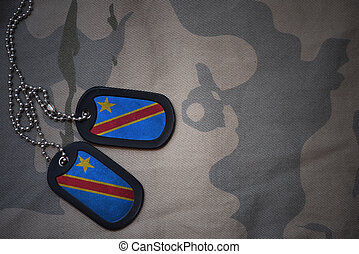 army blank, dog tag with flag of democratic republic of the...