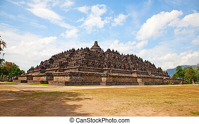 Borobudur temple in Indonesia - Borobudur temple near...