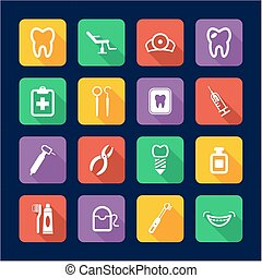 Dentist Icons Flat Design - This image is a illustration and...