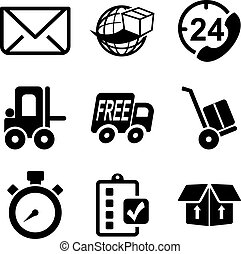 Delivery or Shipping Icons