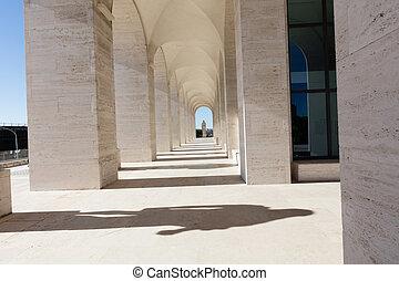 Squared Colosseum,Rome - Palazzo della Civilta del Lavoro in...