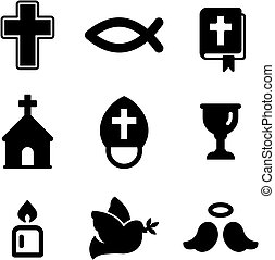 Christianity Icons - This image is a illustration and can be...