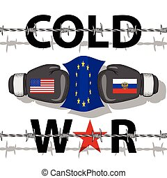 Cold War-Conflict - Illustration of the Cold War between the...