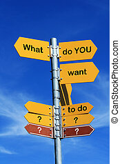 what do you want to do - what do you want to do direction...