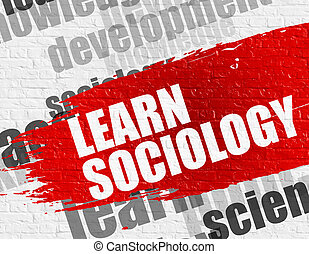 Learn Sociology on White Wall. - Education Service Concept:...