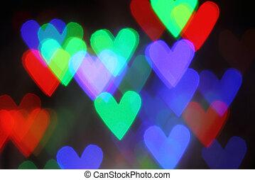 Blurred valentine background