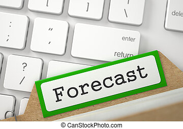 Card Index with Forecast. 3d. - Forecast Concept. Word on...