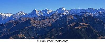 Jungfrau,  Eiger,  monch